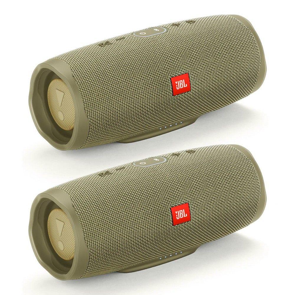 Jbl Charge 4 Waterproof Portable Wireless Bluetooth Speaker Bundle Pair Black Signal To Noise Ratio Passive Radiator Bluetooth