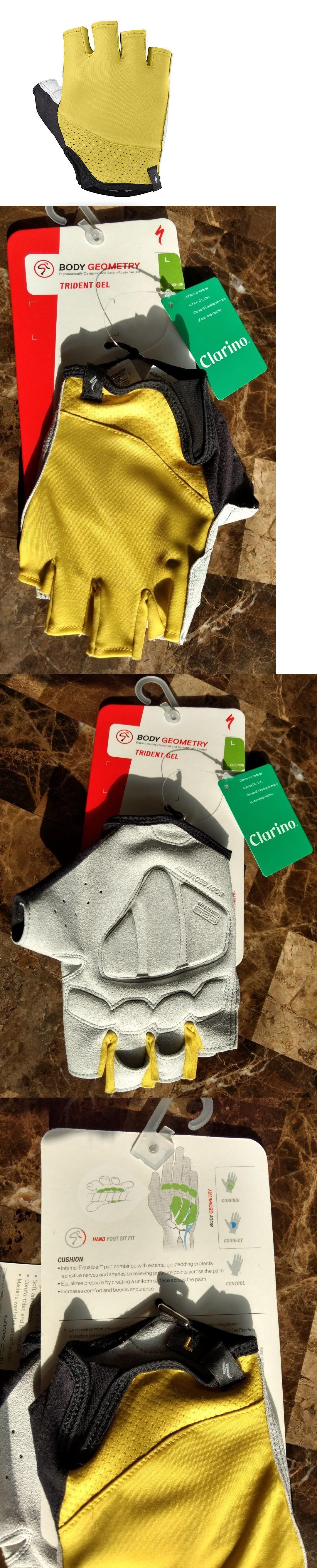 Gloves specialized trident gel gloves men s large mustard