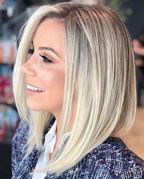 Extremely Popular Angled Bob Hairstyles 2019 To Blow People S Minds Hair Styles Angled Bob Hairstyles Blonde Haircuts