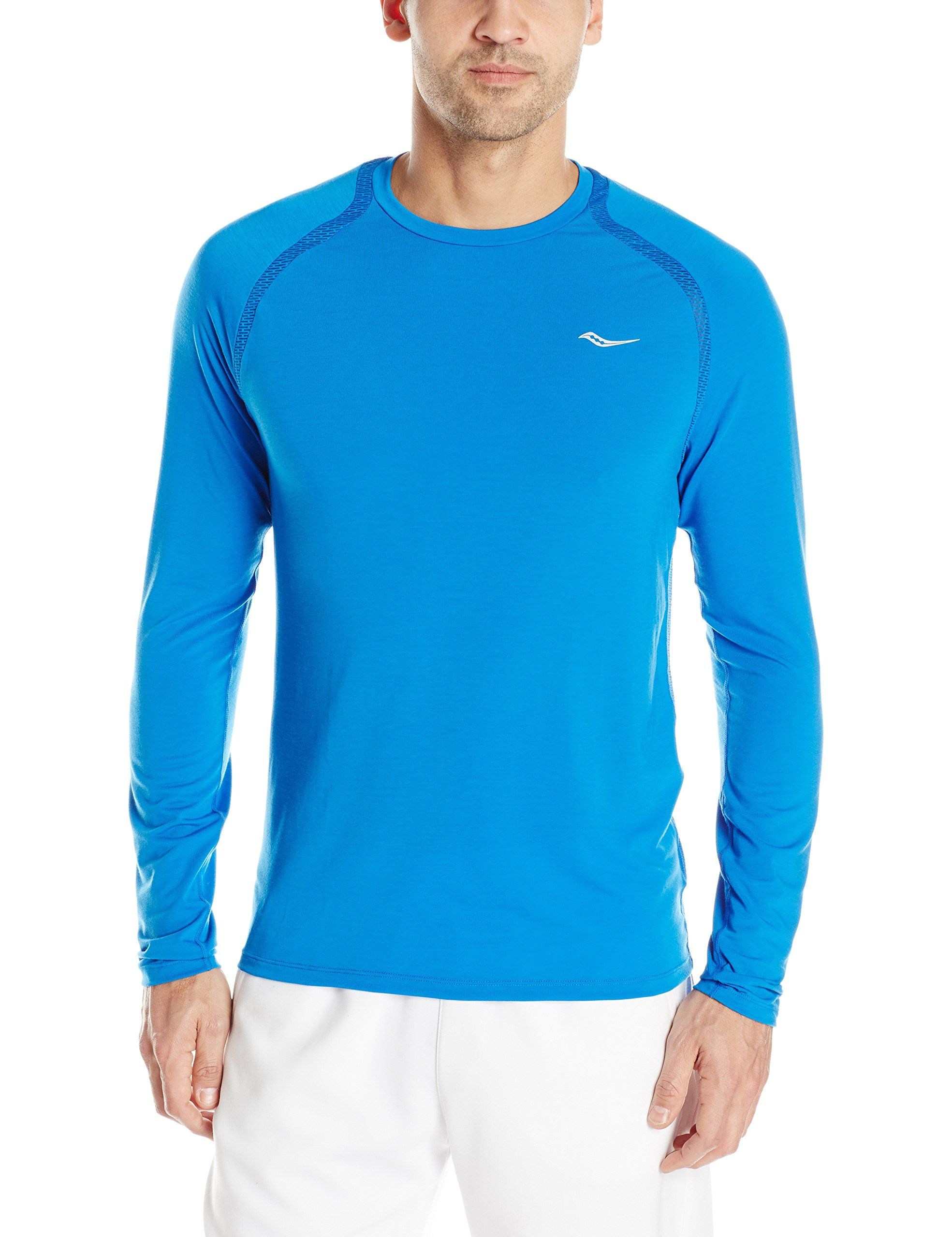 a8734679 Saucony Men's Freedom Long Sleeve Top, Medium, Aero Blue. Innovative ...