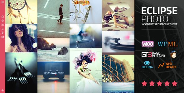 eClipse Photo Portfolio WordPress Theme Link de descarga: https ...