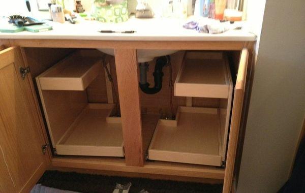 Under Sink Drawer Insert Bathroom Under Sink Pull Out Shelves