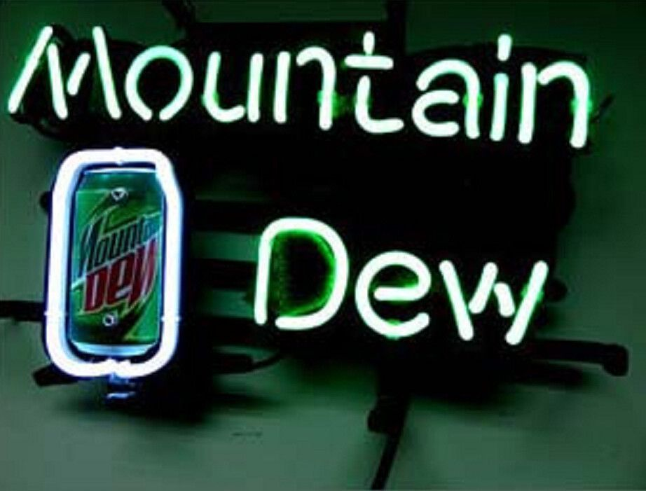 Mountain dew soda neon sign mountain dew neon and soda mountain dew soda beer bar neon signhow i love you neon signs real nice for my home bar deco aloadofball Gallery