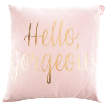 Blush Pink Gold Hello Gorgeous Pillow Hobby Lobby 1467984 Blush And Gold Bedroom Pink Bedroom Decor Rose Gold Bedroom