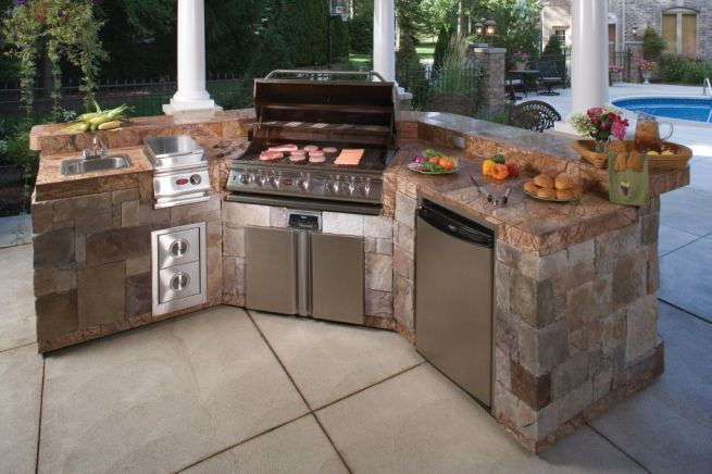 ideas for your own prefab outdoor kitchens : precast concrete