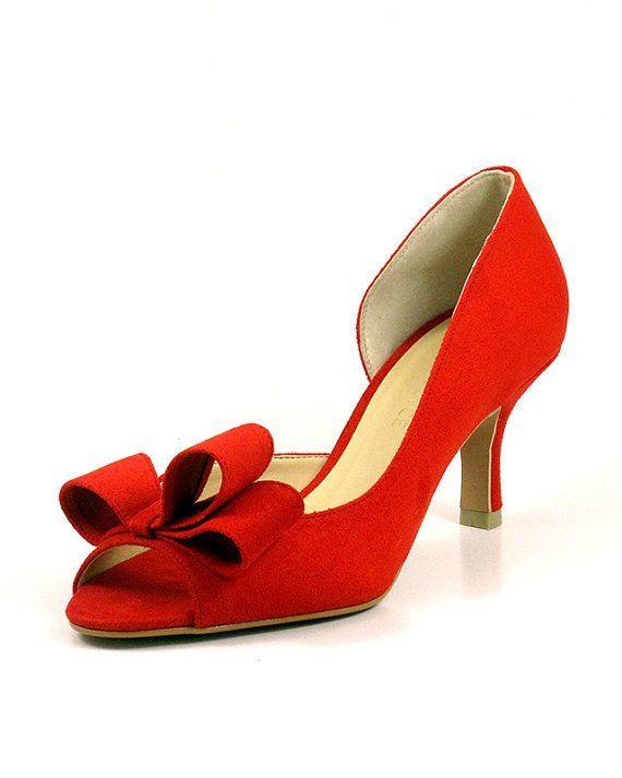 a64668fe1ed0c Rot Hochzeitsschuhe rote Braut Schuhe Scharlachrote von ammiejoyce ...