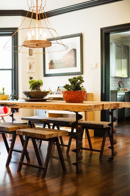 Design Dare Paint Your Trim Black Dining Room Industrial Dining Design Home Decor