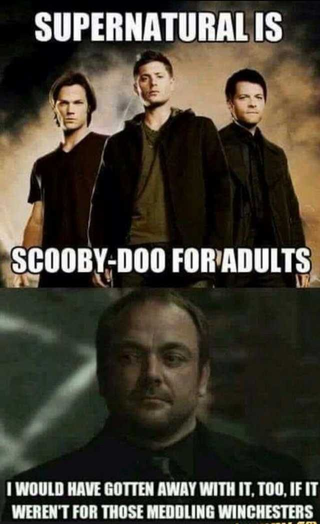 And I Would Have Gotten Away With It Too Gif Supernatural Humour Supernatural Supernatural Memes Supernatural Funny