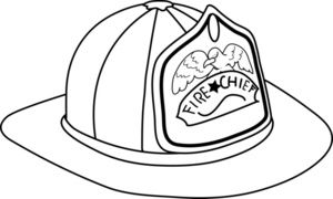 Fireman hat clipart image fireman hat coloring page for Firefighter hat template preschool