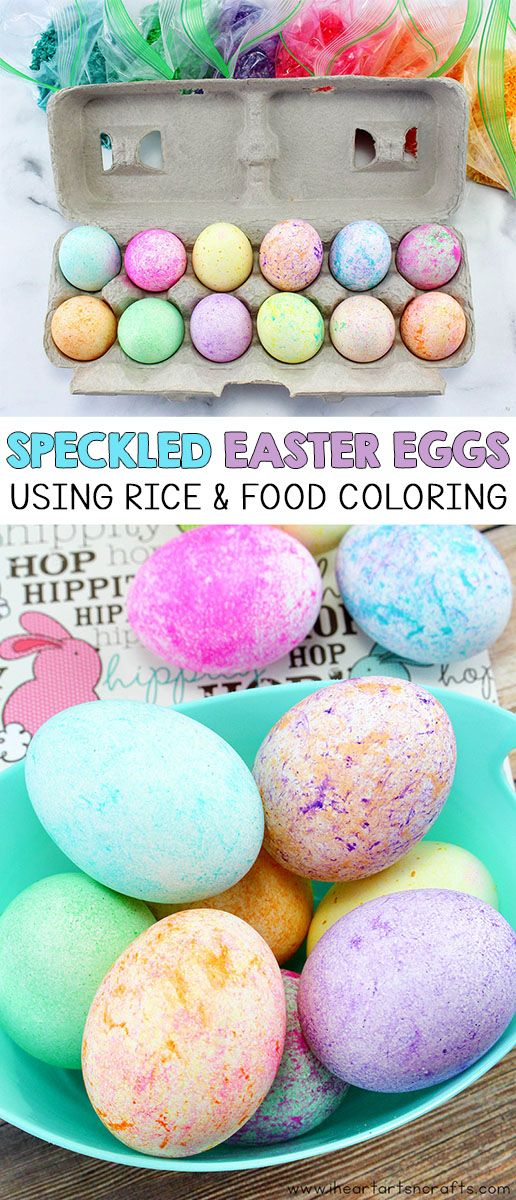 Dye Easter Eggs With Rice and Food Coloring images