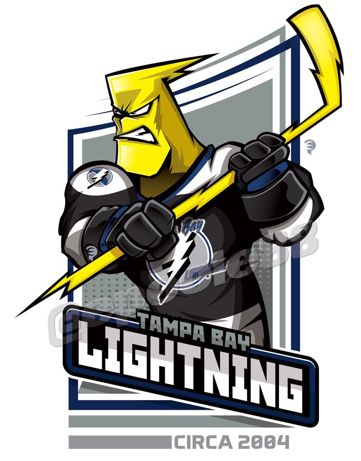 cheap for discount fc3c0 8a1ad A Lightning Bolt wears the 2004 Tampa Bay Lightning jersey ...