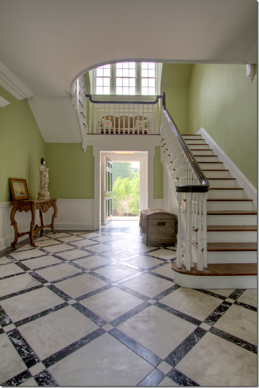 Love The Stairs Wrapping Around And Over The Front Door