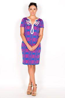 Luana Decorative Neckline Dress