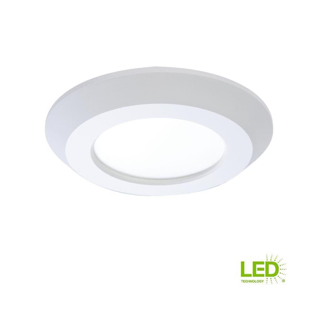Halo Sld 4 In White Integrated Led Recessed Retrofit Ceiling Mount Trim With 90 Cri 3000k Soft White Sld405930whr Ceiling Lights Led Recessed Lighting Outdoor Light Fixtures