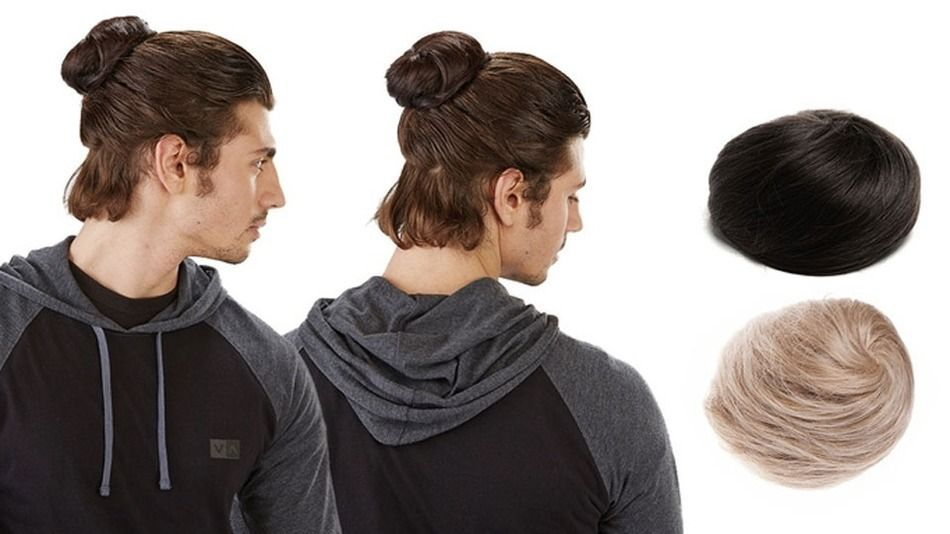 Clip-on man buns aren't a joke, but we wish