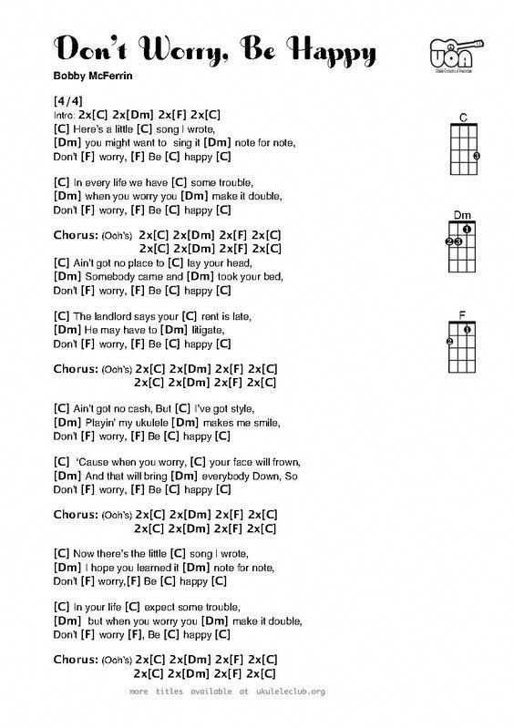 Don't Worry Be Happy for Ukulele – SUPER EASY beginner piece with school-appropr… – Bree Mendoza
