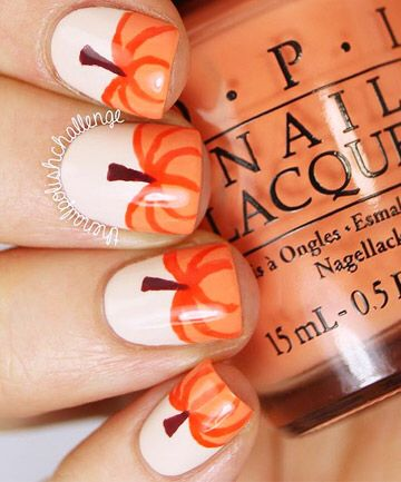 Pumpkin nails pinterest halloween nail designs pedicures from simple pumpkin nails to a full on nail art zombie manicure we rounded up the best 2012 halloween nails prinsesfo Choice Image