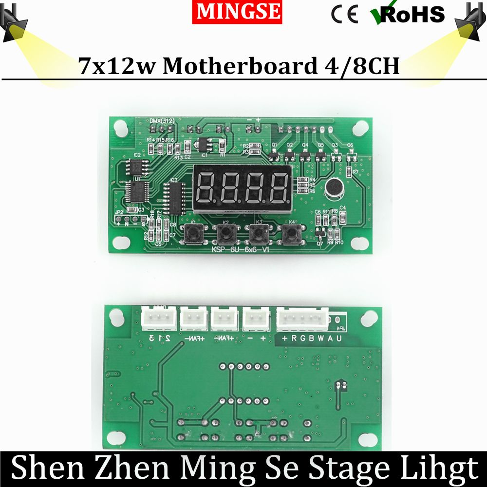 Free Shipping 7x12w 6x12w Led Par Motherboard Voltage 12 24v Par Led Rgbw 4in1 7 12w Motherboard 4 8 Channel With Images Commercial Lighting Commercial 12w