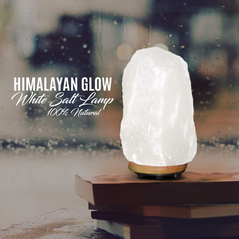 Himalayan Glow 1041 Rare Large Natural White Salt Lamp Salt Lamp Pink Salt Lamp White Himalayan Salt Lamp