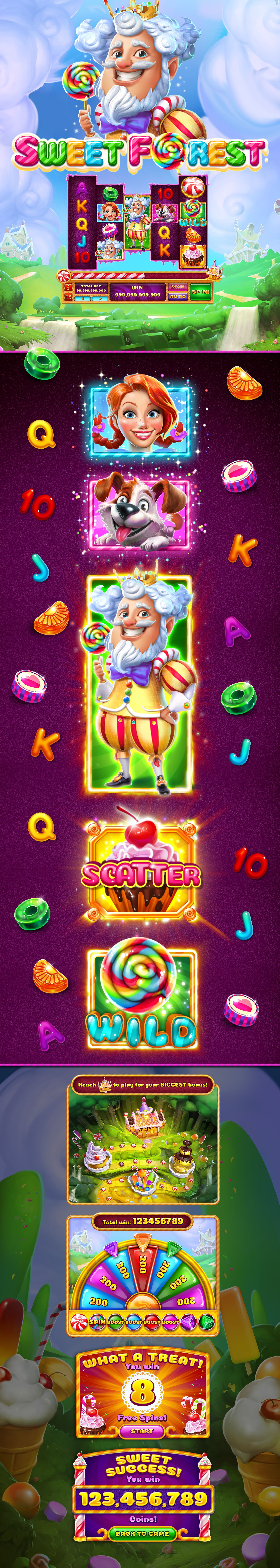 Https Www Behance Net Gallery 60009617 Sweet Forest Slot Caesars