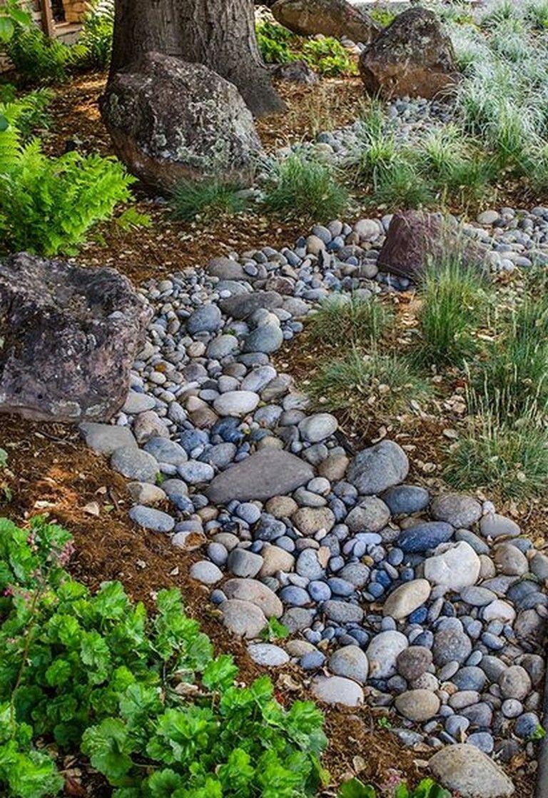 beautiful dry river backyard