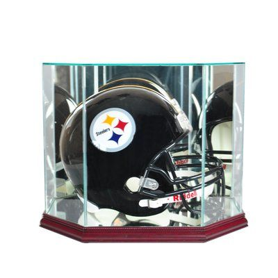 Perfect Cases And Frames Octagon Full Size Football Helmet Display Case Colour Cherry In 2020 With Images Football Helmets Display Case Baseball Display Case