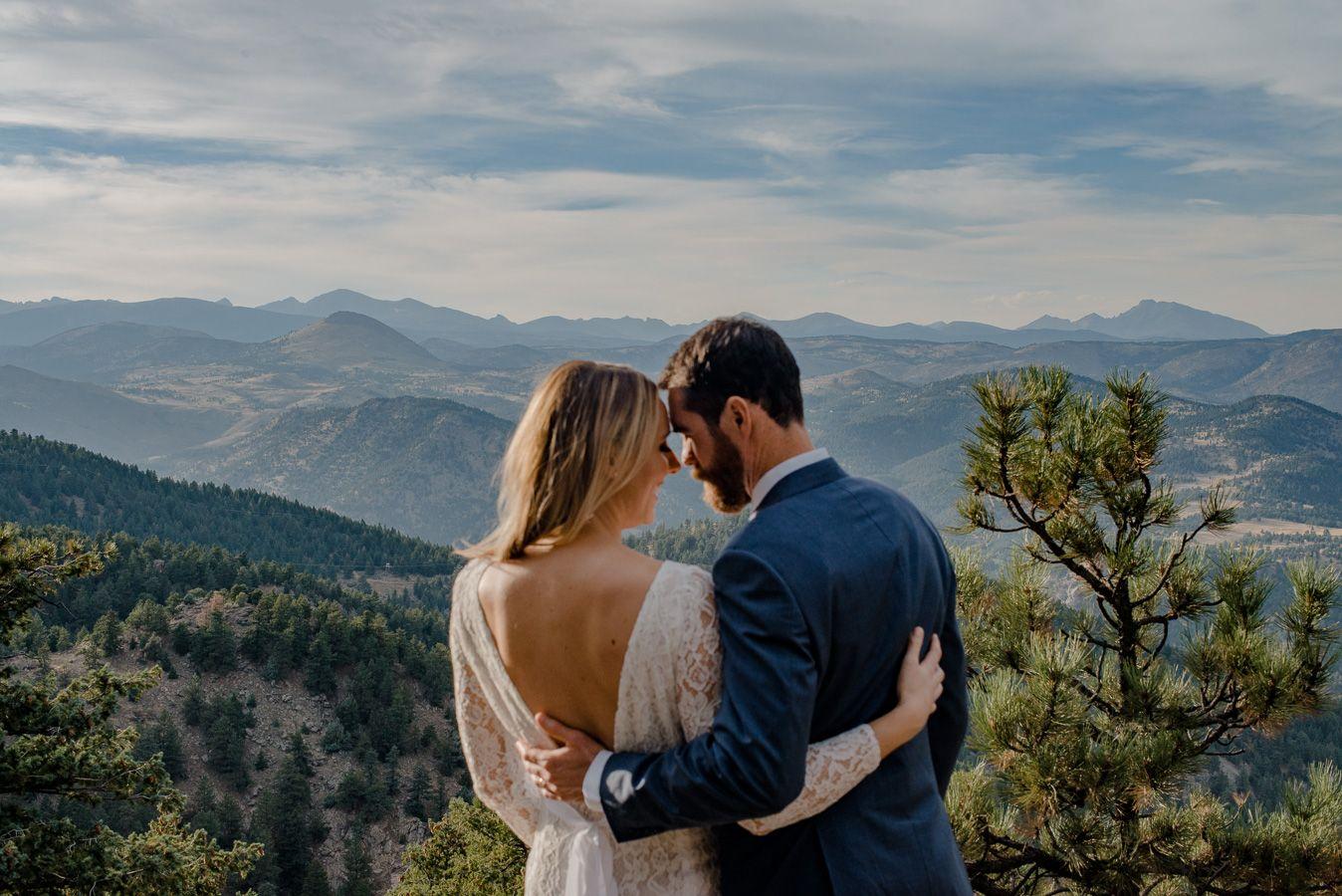Boulder Colorado Mountain Intimate Wedding Elopement