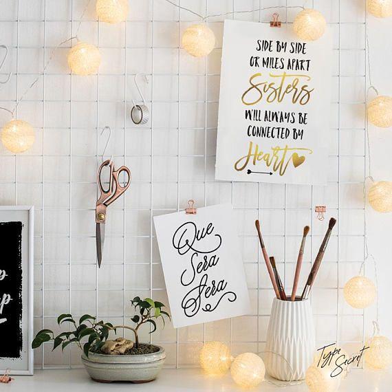 Que Sera Apartment Decor Spanish Quote Print Decorating