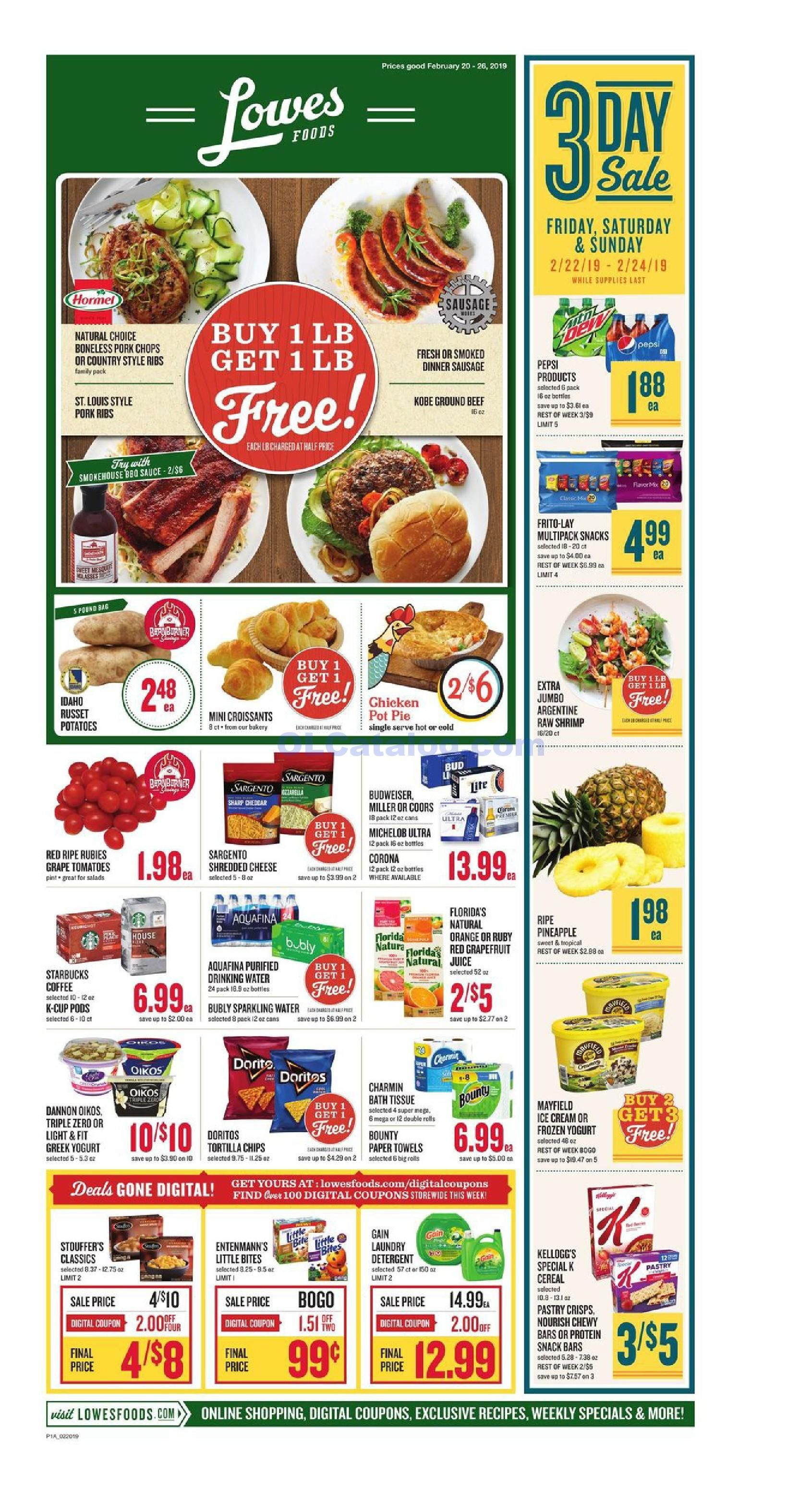 Lowes foods Weekly Ad February 20 26, 2019. View the