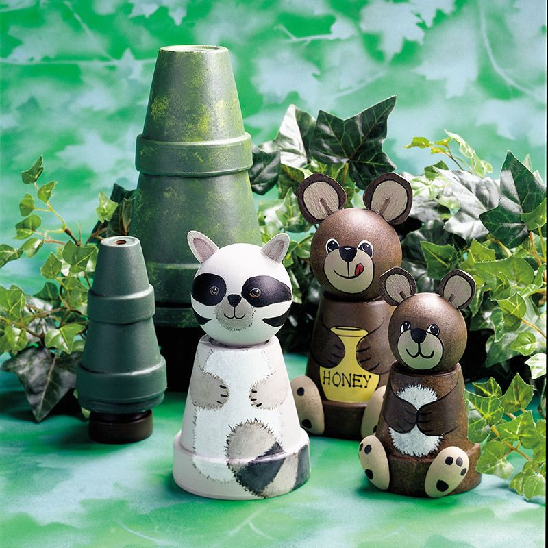Made From Clay Pots Crafts: Perky Pots Peaceful Woodland Scene #claypot #craft