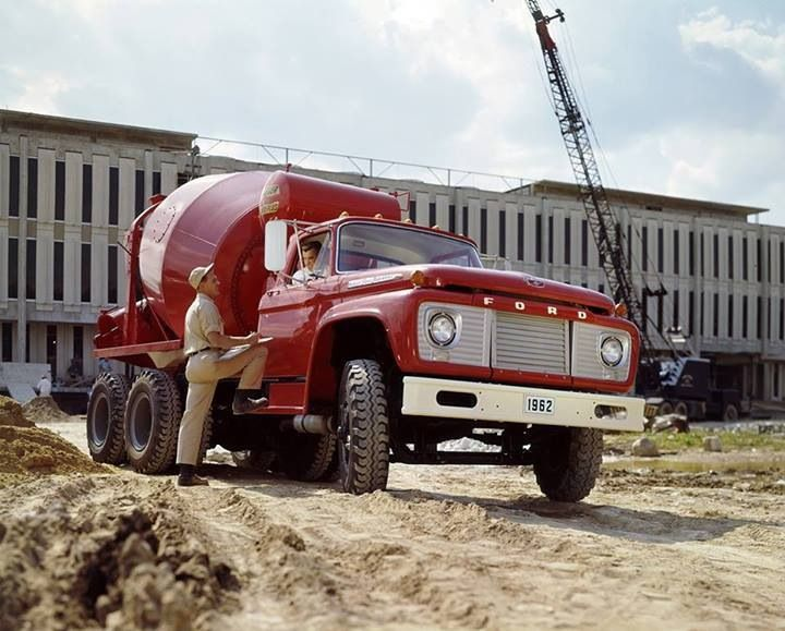 1962 Ford F850 Mixing Concrete On A Job Site Talk About Tuff 50 S