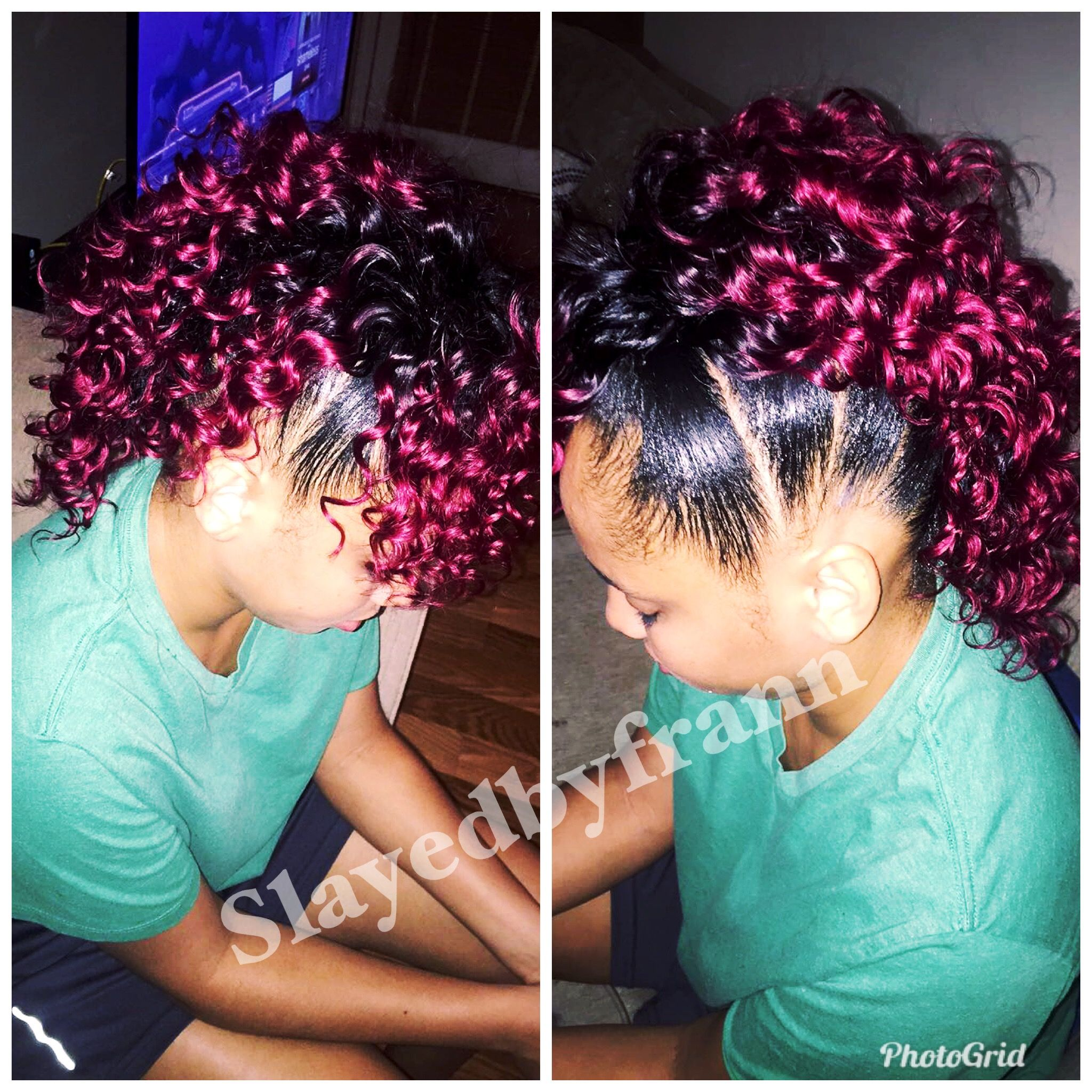 Mohawk sewin braids hair styles pinterest mohawks and hair style