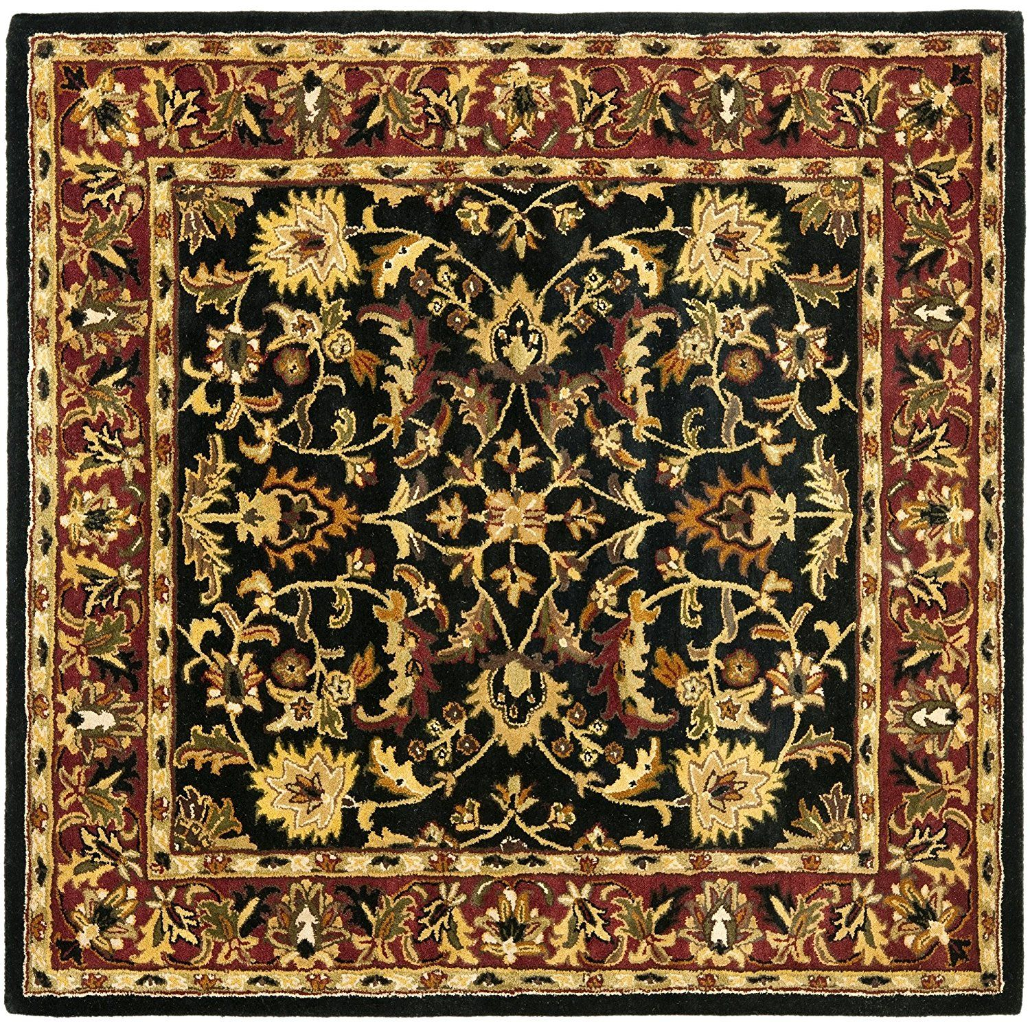 Safavieh heritage collection hg953a handmade traditional oriental black and red wool square area rug 10 square find out more about the great product