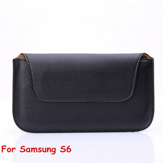 Pouch For Samsung Galaxy Mobile Phone Leather Holster Belt Loop Case for Samsung S6 S5 S4 Bag Note 5 Note4 Cover A8 E7 J5 G530 <