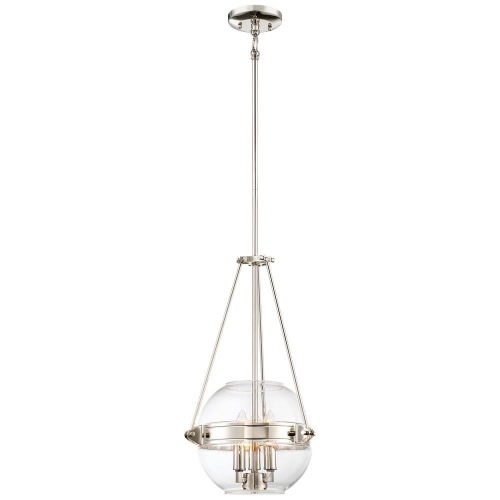 Minka Lavery Atrio Collection 3 Light Polished Nickel Finish