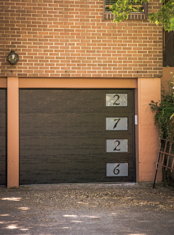 Modern Garage Door House Number Garage Door Modern Garage Doors Unique House Numbers Modern Garage