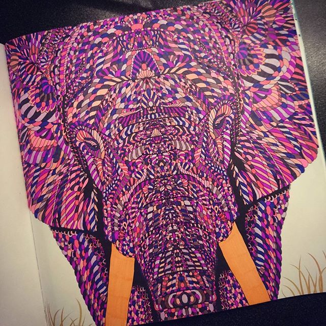 Most therapeutic hobby ever #colouring #fineliners #elephant #themenagerie #therapeutic #relaxing
