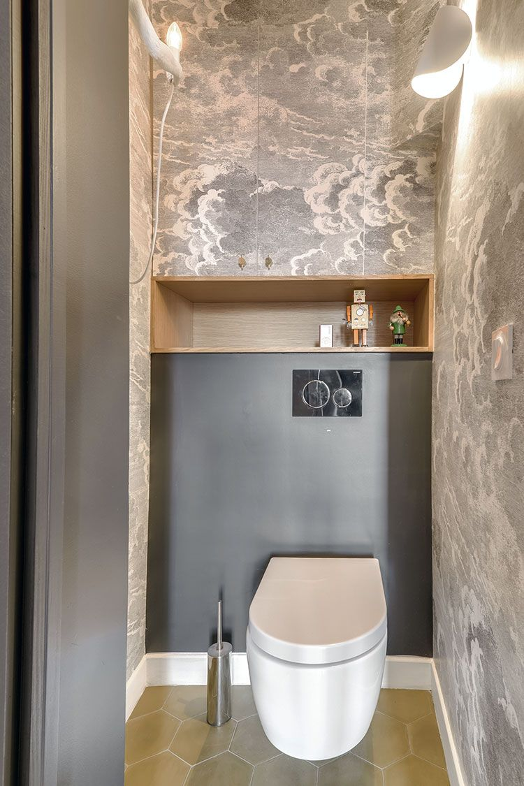 Papier Peint Toilettes Nuvolette Gris Cole And Son C Interior Design Papierpeint Wallpaper Amenagement Wc Decoration Toilettes Amenagement Toilettes