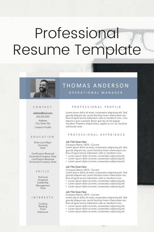 Photo Resume Format Optional 2 Page Resume Layout Medical Resume - 2 page resume template