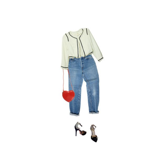 """""""."""" by menta ❤ liked on Polyvore featuring Levi's, Charlotte Olympia and Topshop"""