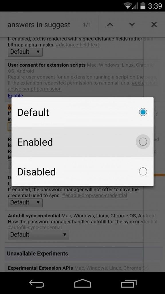 How To Get Answers From The Search Box In Chrome For Android