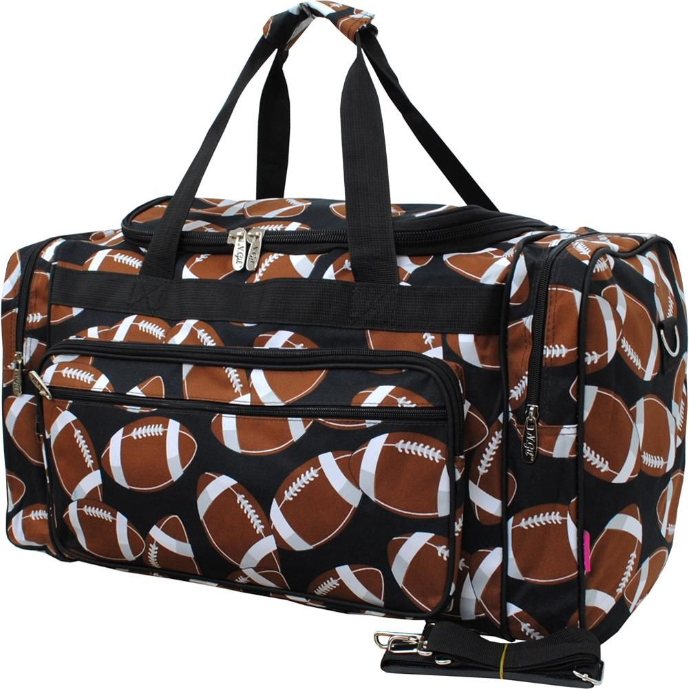Football print 23 inch duffle bagblk with images bags