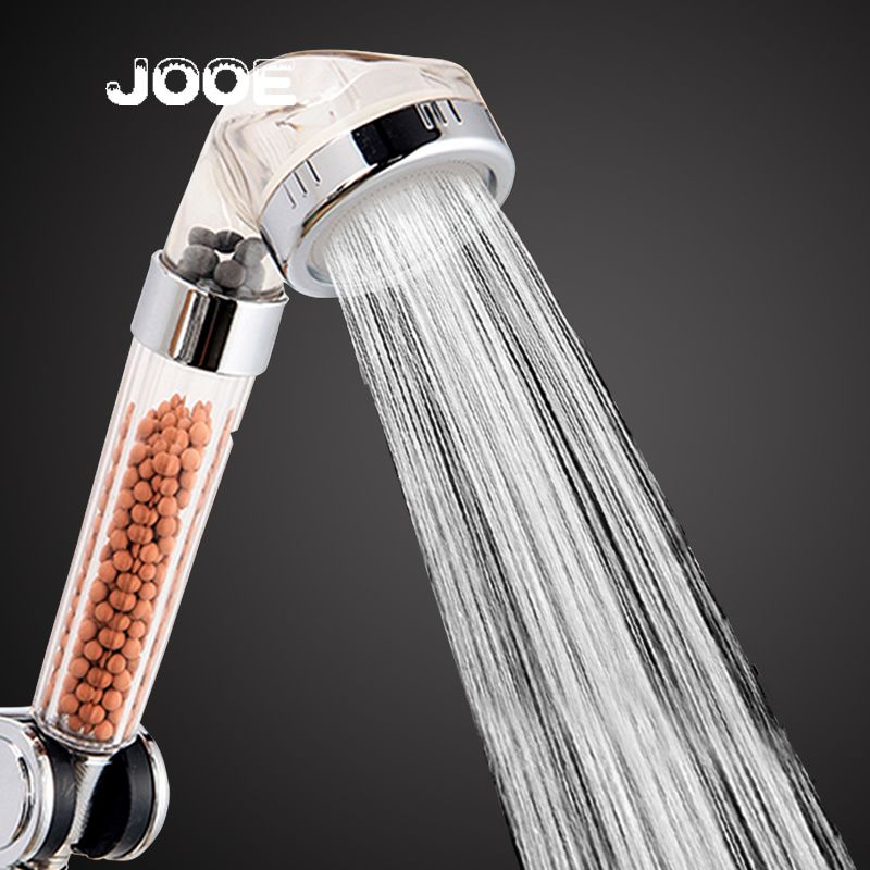 Handheld Shower Head Water Saving Turbocharger Bath Spa Anion