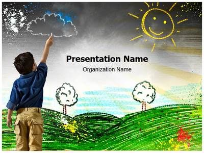 check out our professionally designed child drawing ppt template