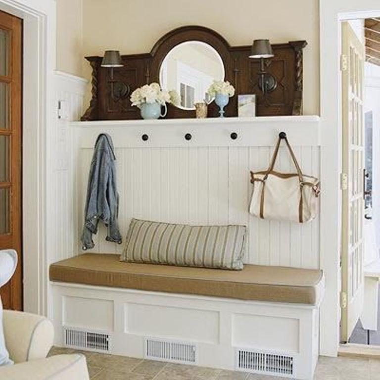 10 Organized Hallways with Beautiful Coat Rack Bench | Home