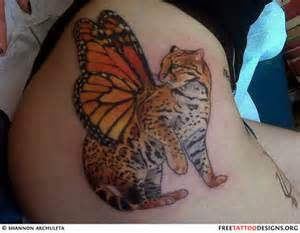 Tiger Butterfly Tattoo Butterfly Tattoo Tattoos Gallery Animal Tattoos