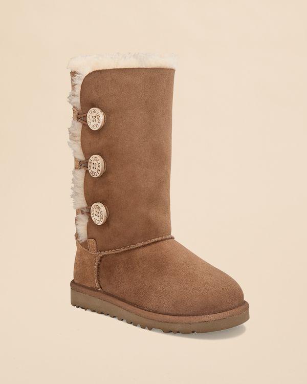 Ugg Australia Girls' Bailey Button Triplet Boots - Little Kid, Big Kid