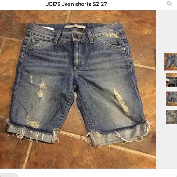 JOE'S Jean shorts SZ 27 distressed Distressed SZ 27 Jean shorts. These really are next to new, see pictures for details. Joe's Jeans Shorts Jean Shorts