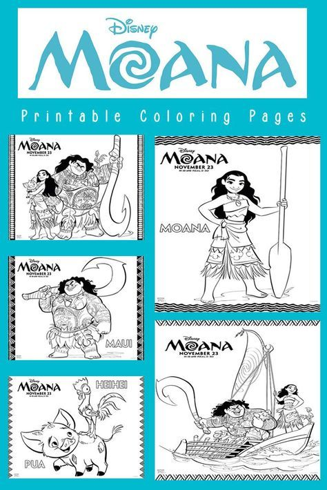 Save, download and print six Disney Moana coloring pages that ...