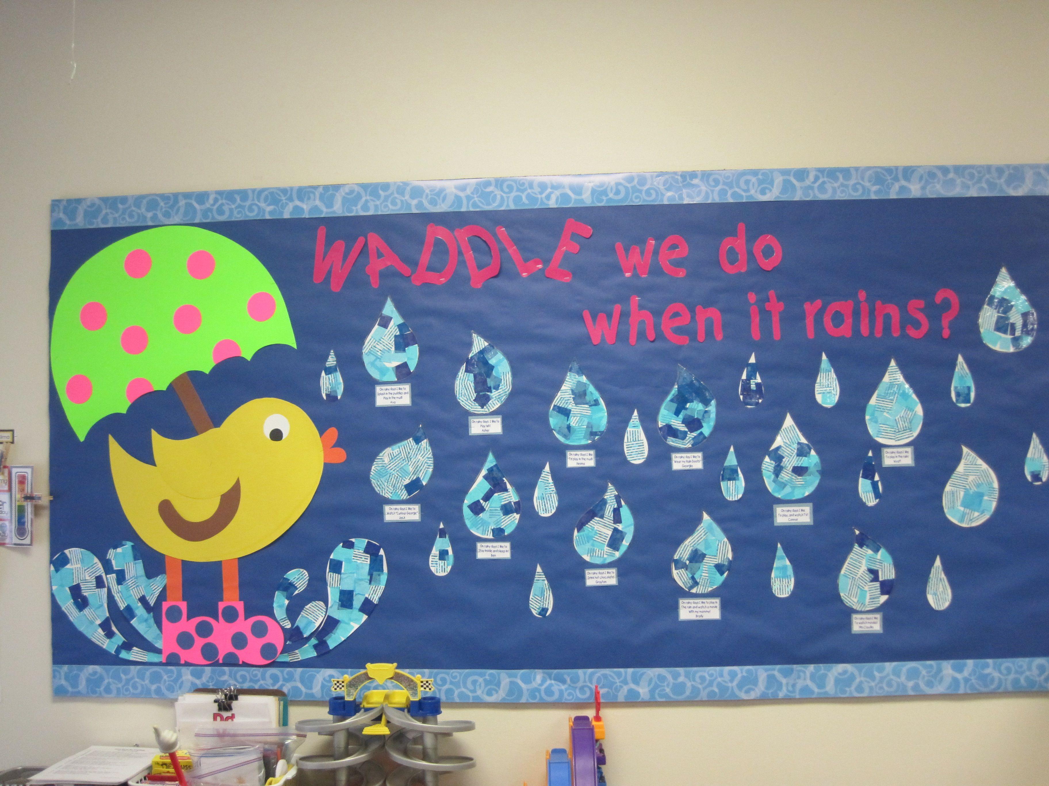 April Shower Bulletin Board